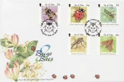 2001-02-01 IOM Bugs & Bees Stamps FDC (84003)