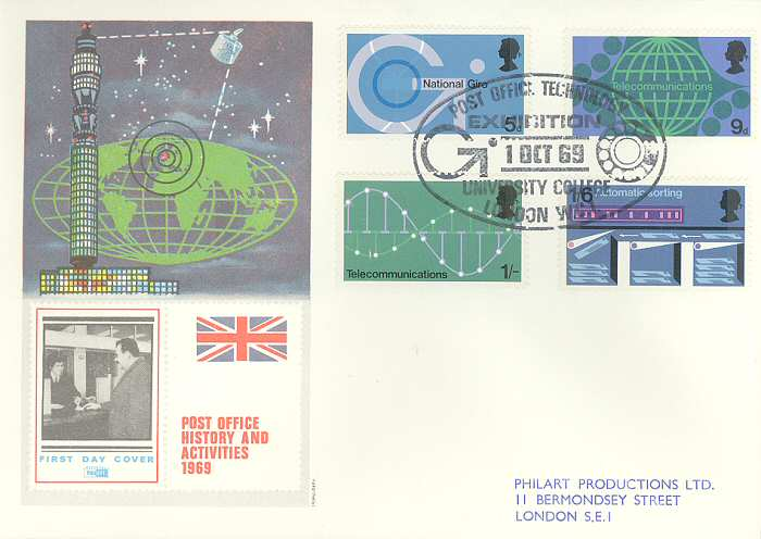 1969-10-01 Post Office Technology Stamps University FDC (842)