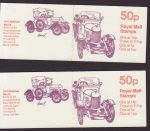 1981-03-18 FB15  A + B Veteran Cars Booklet Stamps (66247)