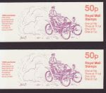 1981-01-26 FB14 A + B Veteran Cars Booklet Stamps (66248)