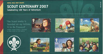 2007-07-26 Scout Centenary Stamps Presentation Pack (P400)