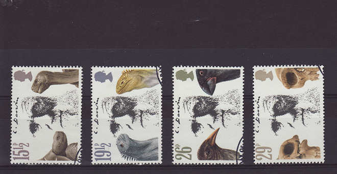 Charles Darwin Stamps 1982