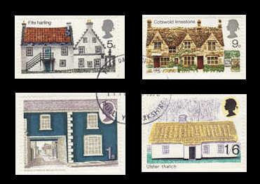 British Rural Architecture Stamps