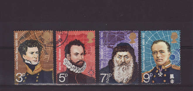 British Polar Explorers Stamps 1972