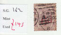1880-83 QV SG162 6d on 6d lilac plate 18 Used Stamp (qvb15)