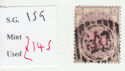 1880-83 QV SG159 3d on 3d lilac plate 21 Used Stamp (qvb19)