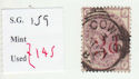 1880-83 QV SG159 3d on 3d lilac plate 21 Used Stamp (qvb20)