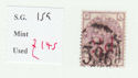 1880-83 QV SG159 3d on 3d lilac plate 21 Used Stamp (qvb2)