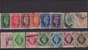 GB King George VI Used set 15 Stamps (S2716)