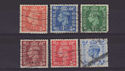 1950-51 King George VI Colour Change x6 Used (s2721)