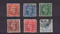 1950-51 King George VI Colour Change x6 Used (s2723)