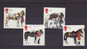 1997-07-08 Queen's Horses Stamps Used Set (S2888)