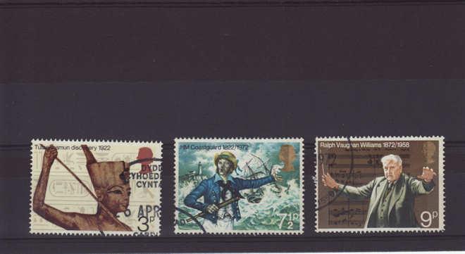 General Anniversaries Stamps 1972