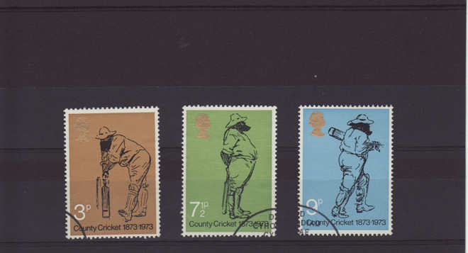 County Cricket Stamps 1973