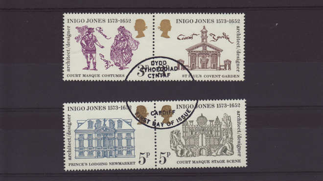 Inigo Jones Stamps 1973