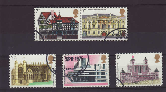 European Architectural Heritage Yearr Stamps 1975