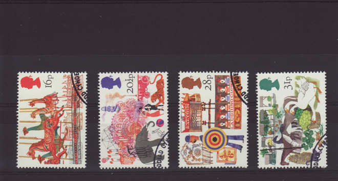 British fairs stamps 1983 Which side does a stamp go on