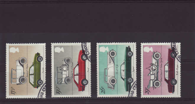 British Motor Cars Stamps 1982