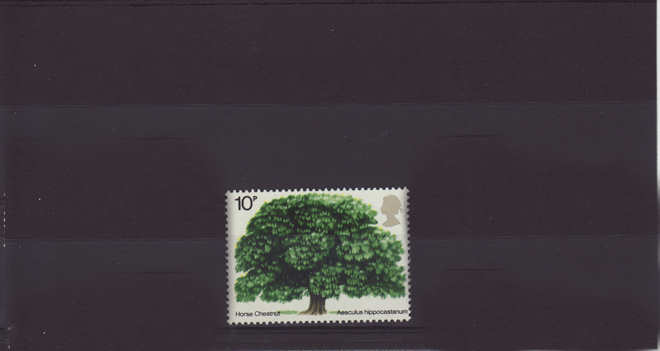 British Trees Horse Chestnut Stamp 1974