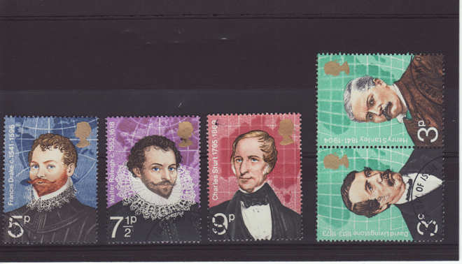 British Explorers Stamps 1973