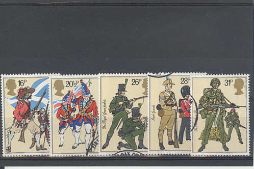 British Army Uniforms Stamps 1983
