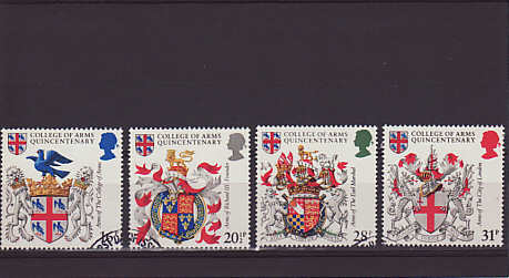 College of Arms Stamps 1984