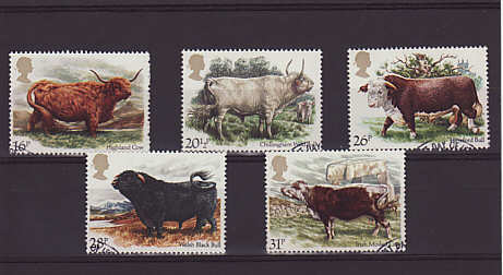 British Cattle Stamps 1984